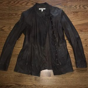 Twenty8Twelve chocolat-colored, leather jacket